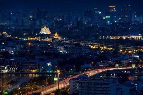 Wat Saket temple in Bangkok van Jelle Dobma