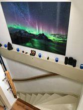 Klantfoto: Noorderlicht en Melkweg van Denis Feiner, op aluminium