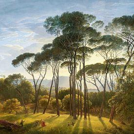 Italienische Landschaft mit Pinien - Hendrik Voogd von Lars van de Goor