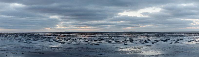 Sonnenuntergang bei Ebbe. von Anjo ten Kate