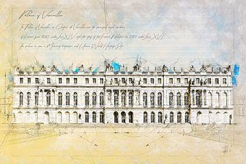 Kasteel van Versailles, Frankrijk van Theodor Decker