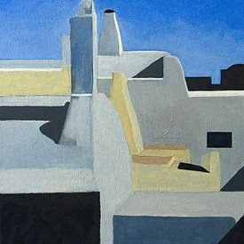 Daken van Santorini Gr. van Antonie van Gelder Beeldend kunstenaar