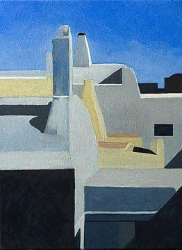 Dächer von Santorini Gr. von Antonie van Gelder Beeldend kunstenaar