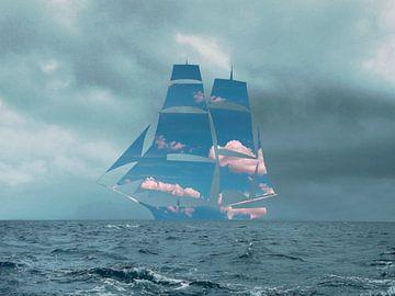 De zeilboot van Catherine Fortin