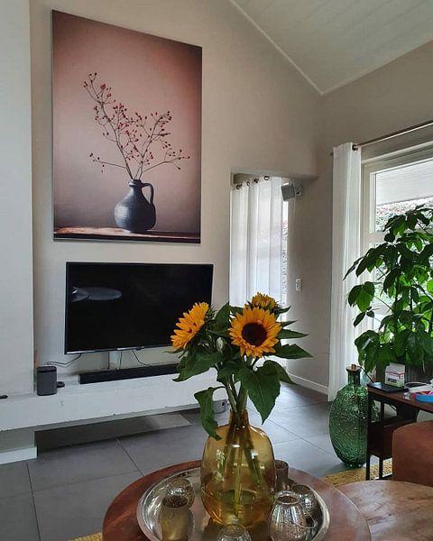 Kundenfoto: Blaue Vase mit Beeren von Karin Bazuin, auf medium_13