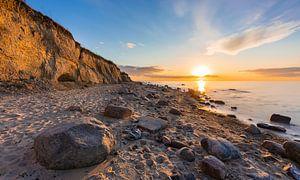 Sonnenuntergang an der Steilküste von Werner Reins