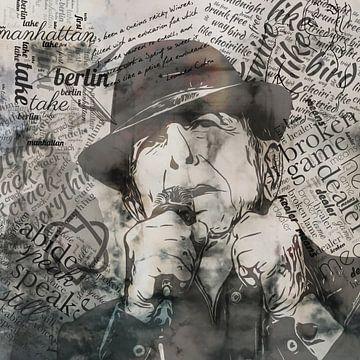 Leonard Cohen von Yolanda Bruggeman