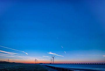 Blauer Himmel Oosterschelde von Andrea de Vries