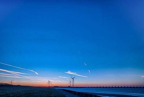 Blauwe hemel Oosterschelde Zeeland