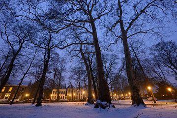 Park Servaasbolwerk / Sonnenborgh en Nieuwegracht in Utrecht van Donker Utrecht