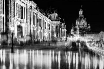 Dresden in de gloed van lichten van Daniela Beyer