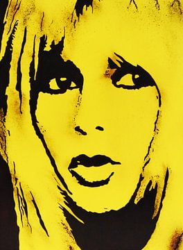 "Brigitte BARDOT ""Geel"" van Kathleen Artist Fine Art"
