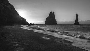 Reynisdrangar, Vík (Vík í Mýrdal), Reynisfjara Beach, IJsland,