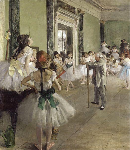 Edgar Degas. The Ballet Class van 1000 Schilderijen