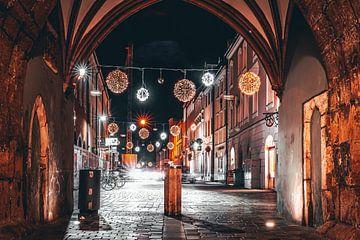 Nacht in de stad Straubing van Thilo Wagner