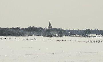 Toren van Rolde in winterlandschap von 10a Boes
