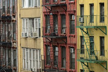 Brandtrappen in Chinatown in New York sur Merijn van der Vliet