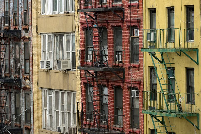 Brandtrappen in Chinatown in New York van Merijn van der Vliet