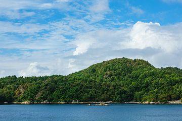 Landscape in the Lyngdalsfjord in Norway van Rico Ködder