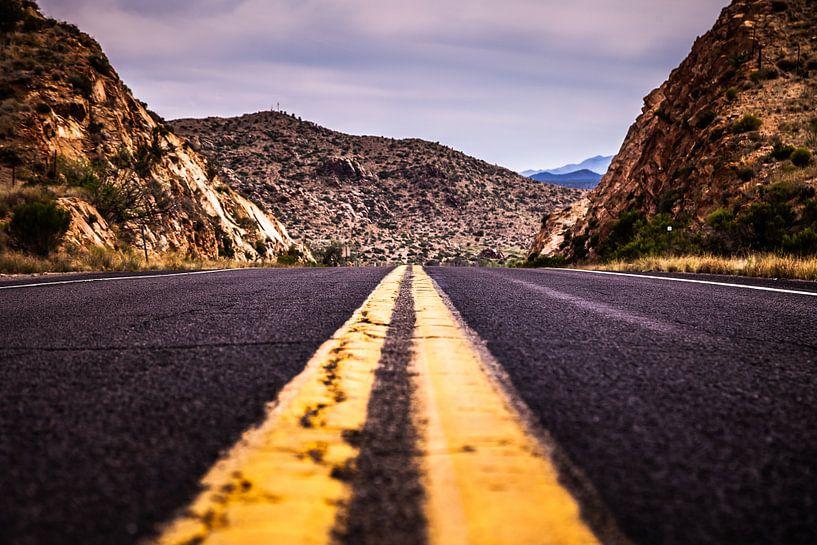 De historische Route 66 Arizona Amerika HW40 HW66 van Retinas Fotografie