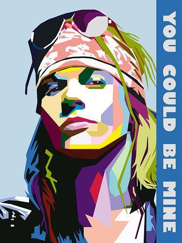 Pop Art Axl Rose - Guns N' Roses van