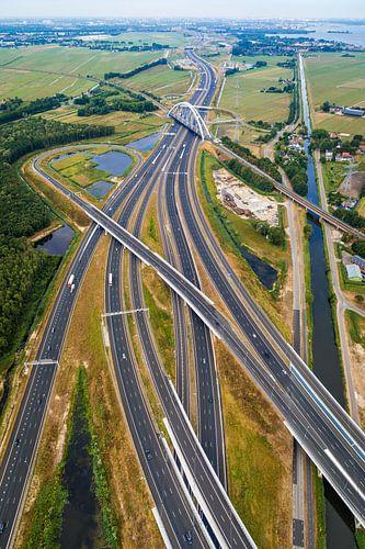Luchtfotografie van het wegennet en infrastructuur van Original Mostert Photography