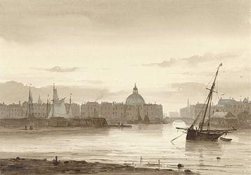 De Buitenkant en de Ronde Lutherse Kerk te Amsterdam sur