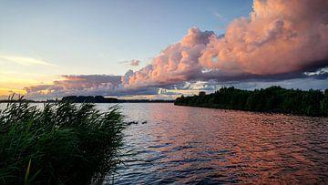 Zonsondergang bij het veluwemeer  von Aalt Hofman