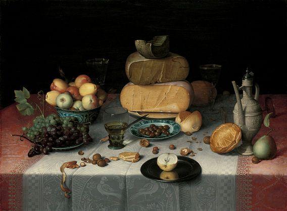 Stillleben mit Käse, Floris Claesz van Dijck von Meesterlijcke Meesters