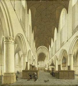 Het interieur van de Sint Bavokerk te Haarlem, Isaak van Nickelen