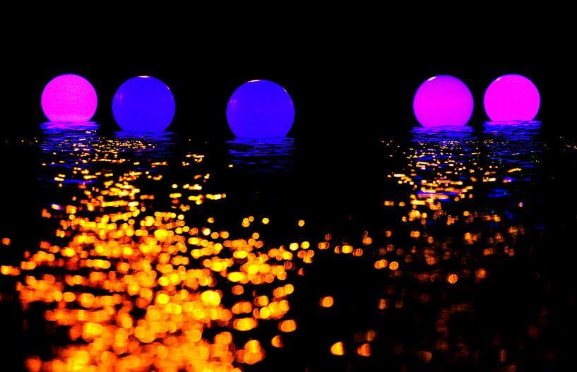 Lichtfestival in Amsterdam van Paul Teixeira