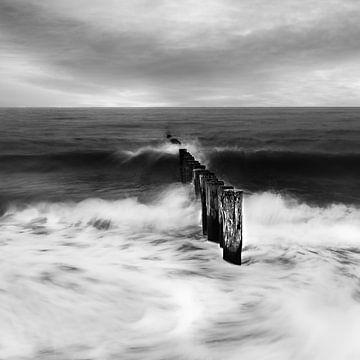 Zoutelande zwart/wit van Ingrid Van Damme fotografie
