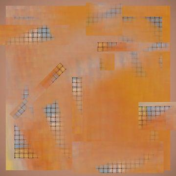 Abstracte oranje weefpatroon van Greta Lipman