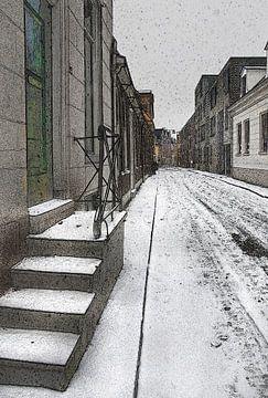 Gronings straatje van Fons Bitter