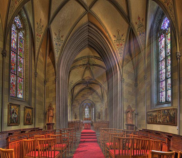 Kerkje in Burg Hohenzollern Duitsland van Rens Marskamp