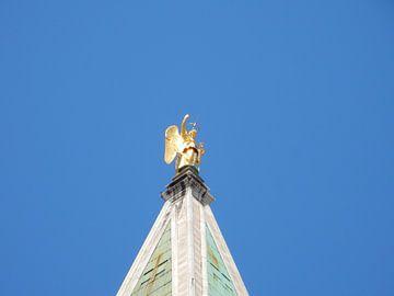 Beeld op San Marcoplein in Italië van Joke te Grotenhuis