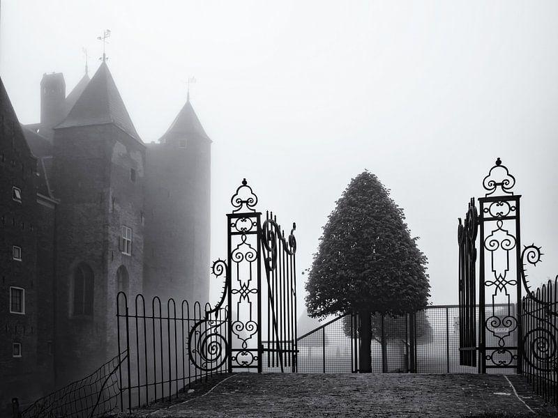 Slot Assumburg in de mist van Paul Beentjes