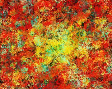 Abstracte kunst - Abstracte kubussen van Alexandra Kleist