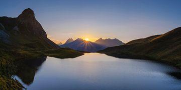 Sonnenuntergang am Rappensee von Walter G. Allgöwer