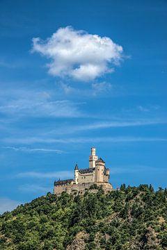 """Het kasteel """"Der Marksburg"""" aan de rivier de Rijn sur Harrie Muis"""