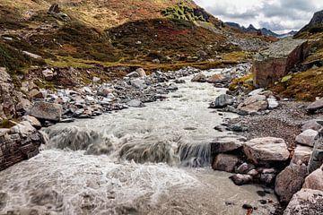 Gebirgsbach Silvretta-Gletscher von Rob Boon