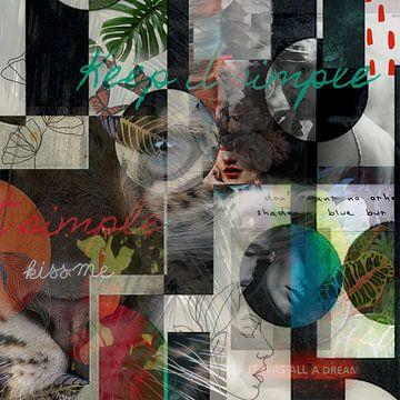 Tropische Collage von Sita Conijn