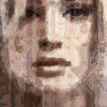 Abstract portret no. 2 van Diana Mets
