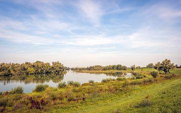 Natuurgebied Crobsche Waard bij het Nederlandse dorp Haaften van Ruud Morijn