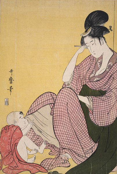 Yubi-sashi, Child pointing, Kitagawa, Utamaro 1753?-1806,  Date Created: ca. 1793 van Liszt Collection