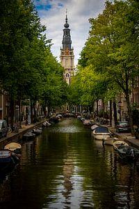 Amsterdam | Staalmeestersbrug mit Blick auf die Zuiderkerk von Mark Zoet