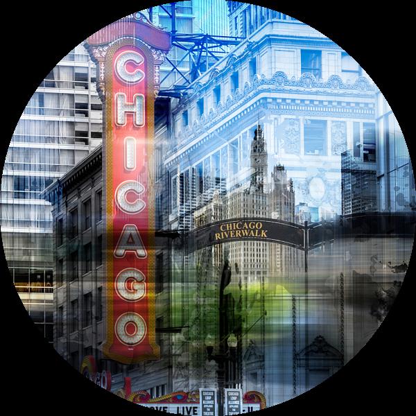 City-Art CHICAGO COLLAGE van Melanie Viola