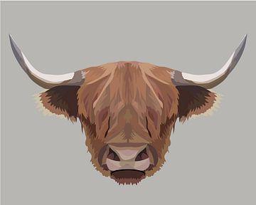 Schottische Highlander-Illustration von Anne Dellaert