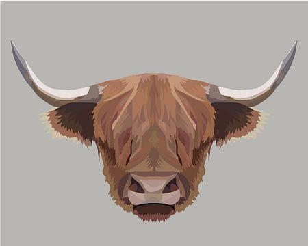 Schotse hooglander illustratie van Anne Dellaert