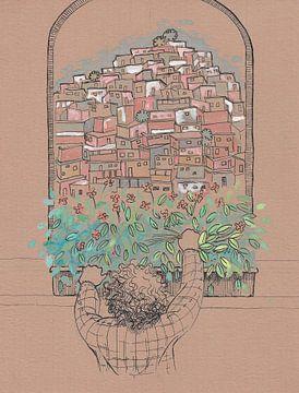 Mirando - Ciudad en una colina von Danylexi Hernández